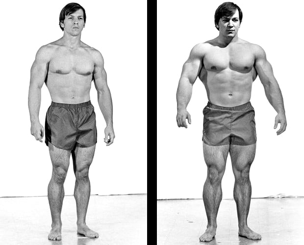 Transformation photo of Casey Viator when he gained 63lbs of muscle in 28 days