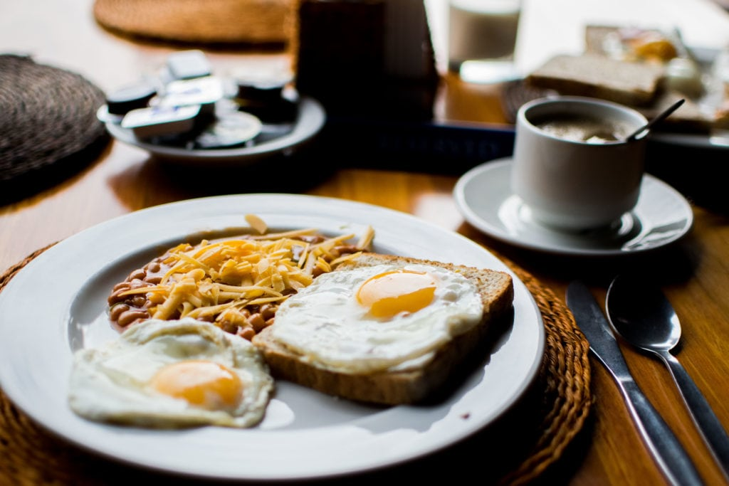 Photo of a typical breakfast