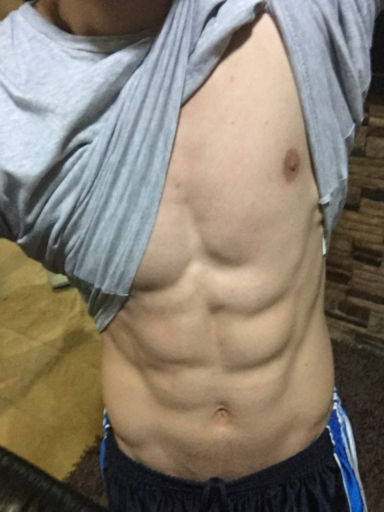 Photo of my abs even after eating those fast foods