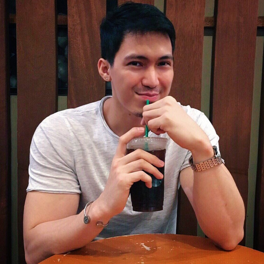 Photo of me drinking my favorite beverage. Why favorite? Because you can burn fat fast with black coffee