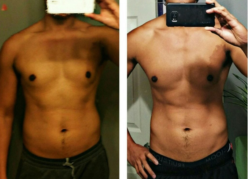 Fat loss result of my client who lost 23lbs