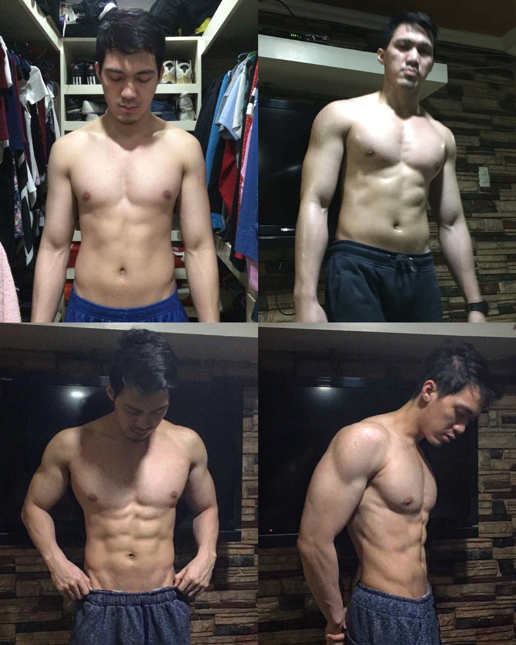 3-month cutting results. This is me after finding out the easiest way to transform your physique