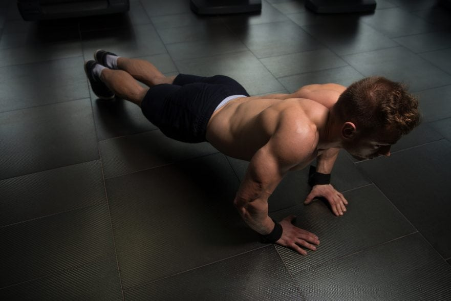 Man doing bodyweight exercises