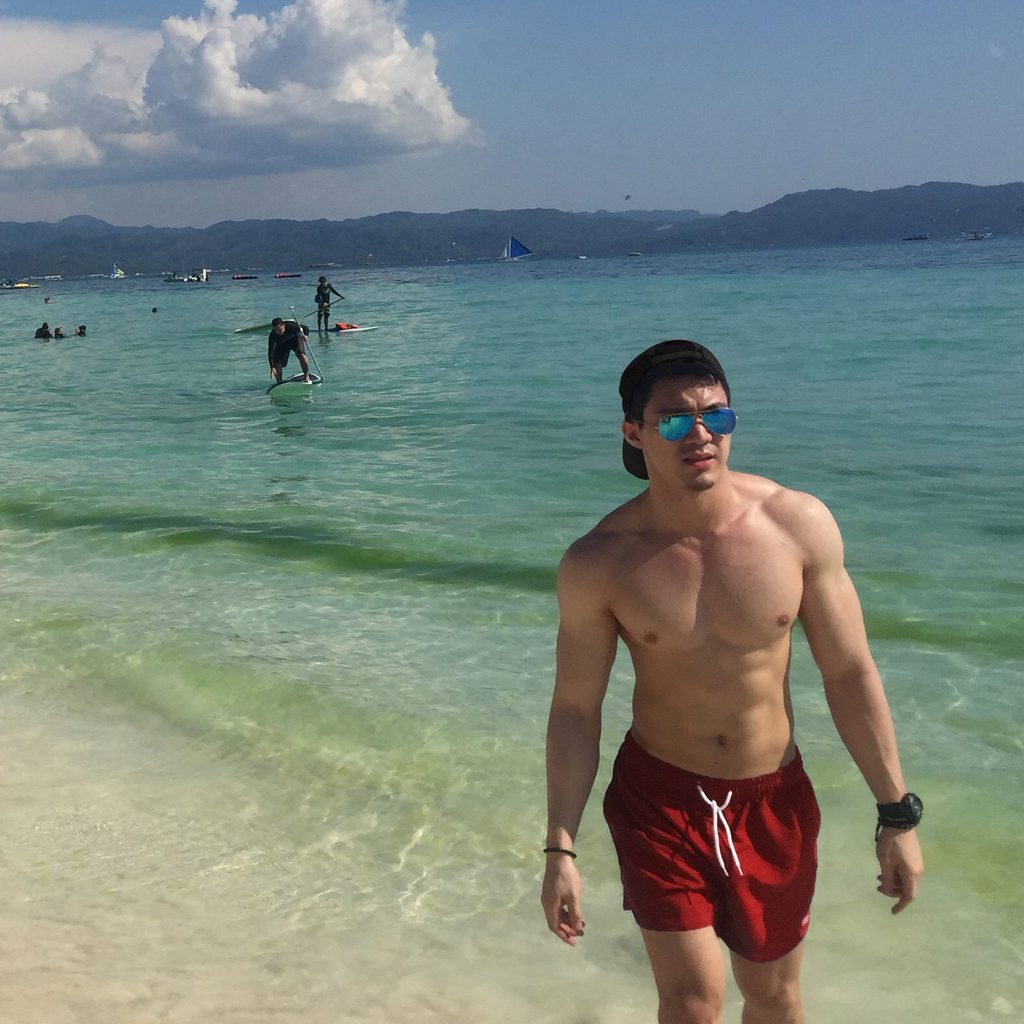 Photo me of at Boracay with my improved physique