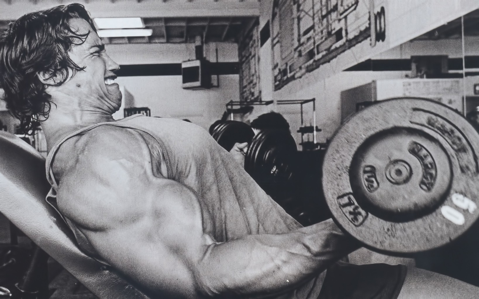 Arnold working out